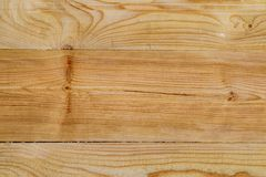 Planed pine Board with knots stock image