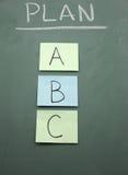 Planee A, B, o C Fotos de archivo libres de regalías
