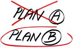 Planee las opciones del plan un B Fotografía de archivo libre de regalías