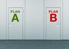 Planee A o planee B, concepto de opción imagenes de archivo