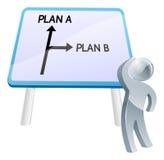 Planee A o planee la muestra de B Imágenes de archivo libres de regalías