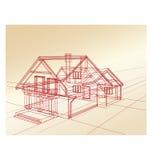 Planee una casa de campo libre illustration