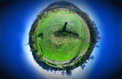 Planeet 360 panorama Stock Foto's