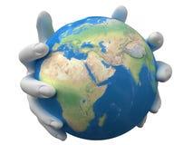 Planeet in de handen Royalty-vrije Stock Afbeelding