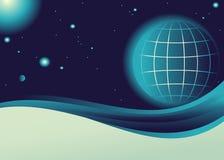 Planeet in de kosmos Royalty-vrije Stock Foto