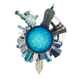 Planeet de Stad van Manhattan, New York. De V.S. stock illustratie