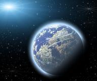 Planeet in een ruimte. vector illustratie