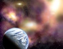 Planeet in een ruimte. Stock Foto's