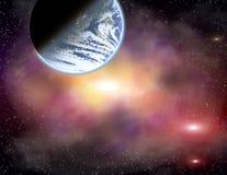 Planeet in een ruimte. Stock Afbeeldingen