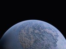 Planeet en kleine maan Stock Foto's