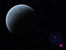 Planeet en starscape Stock Afbeeldingen