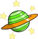 Planeet en sterrenVector Stock Afbeeldingen