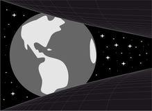 Planeet in het heelal Stock Foto