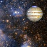 Planeet Jupiter Elementen van dit die beeld door NASA wordt geleverd royalty-vrije illustratie