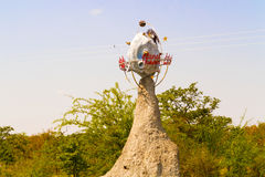 Planeet Kalahari in Botswana Stock Foto