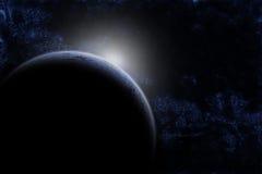 Planeet in kosmische ruimte Stock Foto's