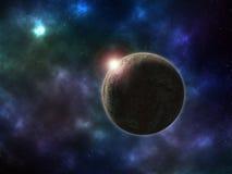 Planeet in kosmische ruimte Stock Afbeeldingen