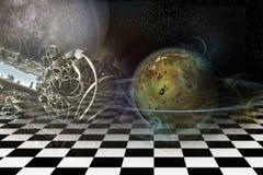 Planeet met ringen royalty-vrije illustratie