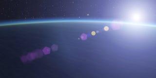 Planeet met ster Stock Foto's