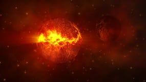 Planeet in ruimte Stock Foto's