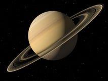 Planeet Saturn met texturen wordt gedaan die royalty-vrije illustratie