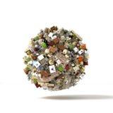 Planeet van de voorwerpen en het puin stock illustratie
