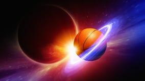 Planeetbasketbal Stock Afbeeldingen