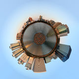 Planeetpanorama van stock afbeeldingen
