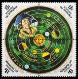 Planeetpostzegel Royalty-vrije Stock Afbeeldingen
