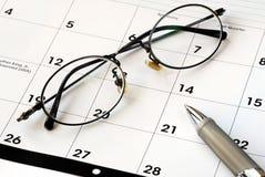 Planeie o futuro com o calendário Imagem de Stock