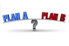 Planeie A ou planeie B? Fotografia de Stock Royalty Free