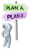 Planeie A ou planeie a decisão de B Foto de Stock
