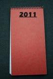 planejador 2011 callendar Fotografia de Stock