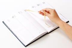 Planejador diário Fotos de Stock