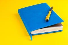 Planejador diário com endereços da Internet coloridos Imagem de Stock Royalty Free