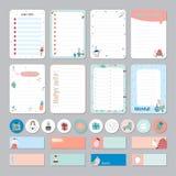 Planejador diário e semanal do calendário bonito Imagem de Stock