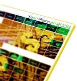 Planejador do ano Fotografia de Stock