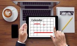 Planejador do calendário fotografia de stock royalty free