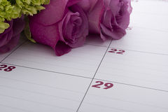 Planejador do calendário do escritório Fotos de Stock Royalty Free