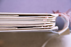 Planejador do casamento do Scrapbook/ imagens de stock