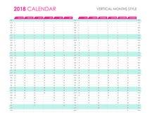 Planejador 2018 do negócio Imagem de Stock Royalty Free