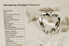 Planejador do orçamento do casamento Imagem de Stock