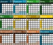 Planejador do projeto de 2017 calendários Foto de Stock Royalty Free