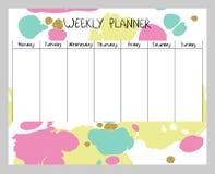 Planejador semanal abstrato Fotos de Stock