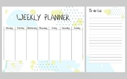 Planejador semanal abstrato Imagem de Stock
