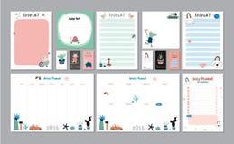 Planejador semanal e diário escandinavo Imagens de Stock