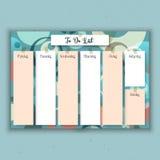 Planejador semanal retro Fotografia de Stock