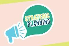 Planejamento estratégico do texto da escrita da palavra Conceito do negócio para prioridades de organização da operação da ativid ilustração stock