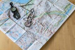 Planejando a viagem ideal imagem de stock