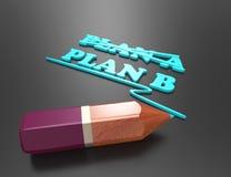 Planen-plan b-begrepp för ändring av planet Royaltyfria Bilder